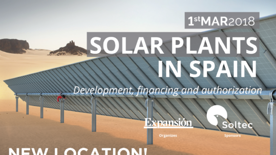 Soltec sponsors the event Solar Plants in Spain